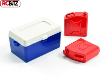 FASTRAX Painted Ice Bucket & Fuel Cans x2 Scale accessory details FAST299G FTX