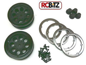Axial 1.9 8 Hole Beadlock Scale Wheels 2 BLACK AX8087 make your truck stand out