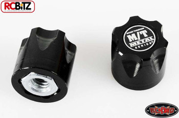 RC4WD Mickey Thompson Metal Series 1/10 Wheel Center Caps 2 Hubs Hub BLACK