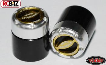 RC4WD Warn Branded Scale Detail Manual Locking Hubs TOY Hub Yellow Black Silver