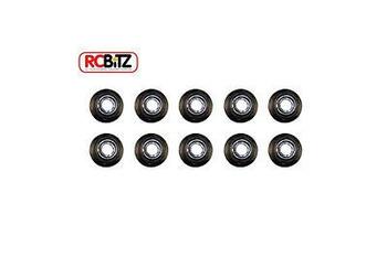 Axial M4 Nylon Lock WHEEL Nut BLACK 10 Nuts FITS ALL AXLES SCX10 Wraith AXA1045