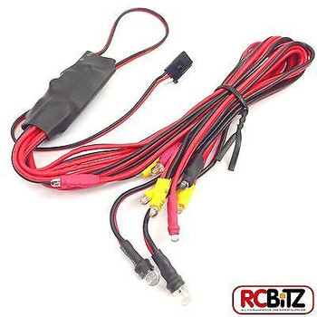 RC LED Light Unit Headlight Brake & Indicator 2 Settings FAST198 easy connection[LED set and Y-lead SET]