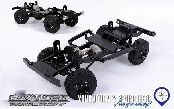 Gelande II Truck KIT Toyota CRUISER HARD Body Set AMAZING Detail & Interior scale FJ40