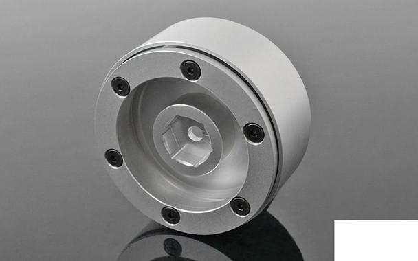 "Stocker 1.7"" Beadlock Wheels RC4WD Z-W0232 SILVER Alli 12mm Hex inc Hubs Bitz"