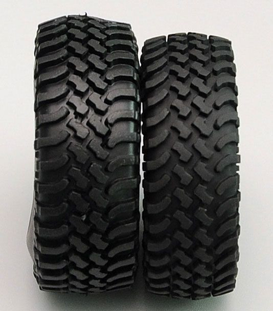 "Mud Thrashers 1.55"" Scale Tyres (2) RC4WD with Foams tyre Very Scale looking"
