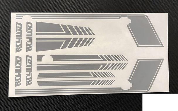 RC4WD Clean Stripes D90 Decal Sheet GREY Z-B0181 Side Stripe Sticker & Bonnet RC