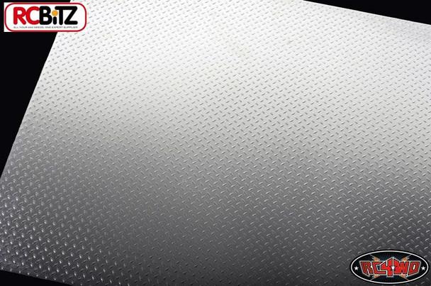 Scale Diamond Plate Aluminium Sheets 2 sheet SILVER 280 x 221mm 0.5mm Z-S0533