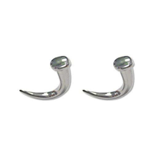 Lex & Lu Pair of Cast Steel Taper Expander Plug Talon 8-00G Earrings-103-Lex & Lu