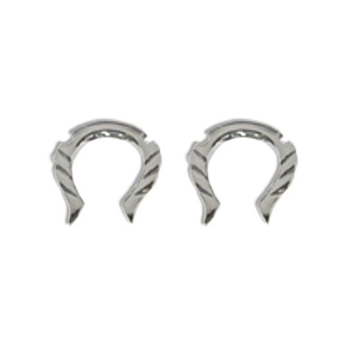 Lex & Lu Pair of Cast Steel Taper Expander Plug Talon 8-4G Earrings-119-Lex & Lu