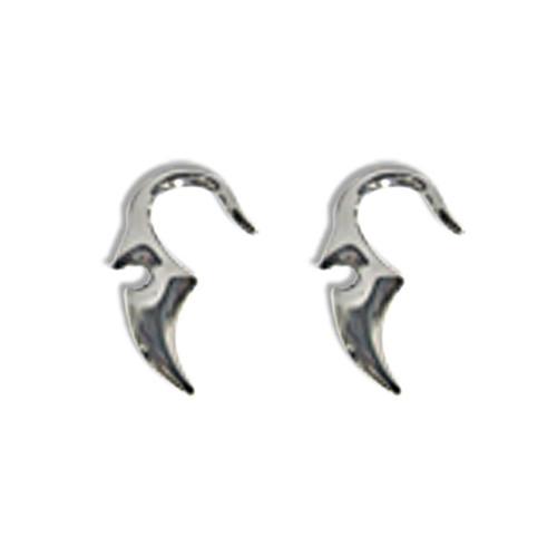 Pair of Cast Steel Taper Expander Plug Talon 8-4G Earrings-138-Lex and Lu