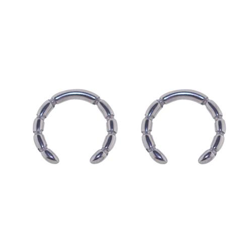 Lex & Lu Pair of Cast Steel Tribal Taper Plug Pinchers Piercing BDPC105-Lex & Lu