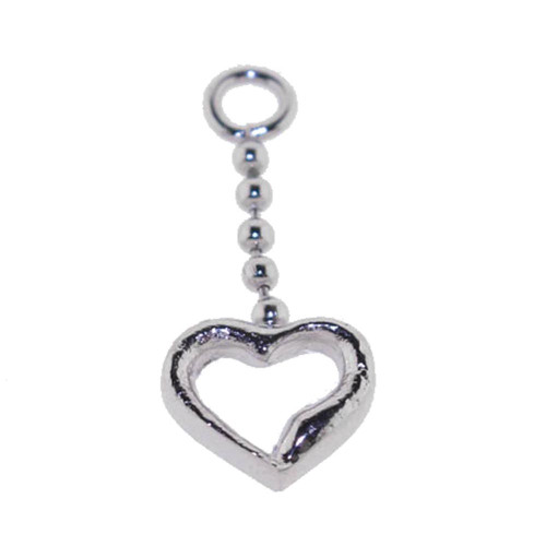 Add On Heart Charm Dangle, Fits 18,16,14,or 12 Gauge - Heart 110-Lex and Lu