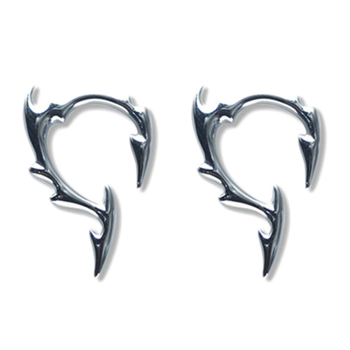 Pair of Cast Steel Tribal Taper Plug Pinchers Piercing BDPC110-Lex and Lu