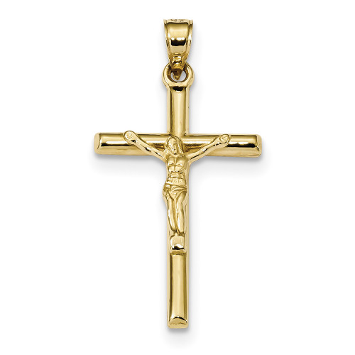 10k Yellow Gold Hollow Crucifix Pendant 10C1342-Lex and Lu