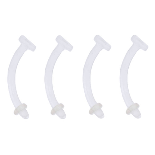 4 Pack of Soft Clear Bio-Flex Invisible Belly Ring Retainers Piercing 14 Gauge-Lex and Lu