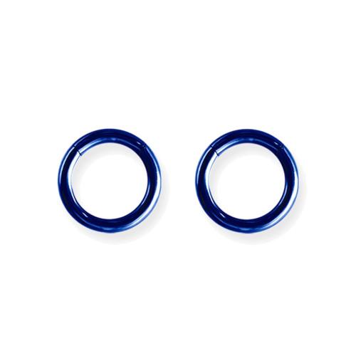 "Lex and Lu Pair of Titanium Seamless Captive 10 Gauge 7/16"" Dia Blue"