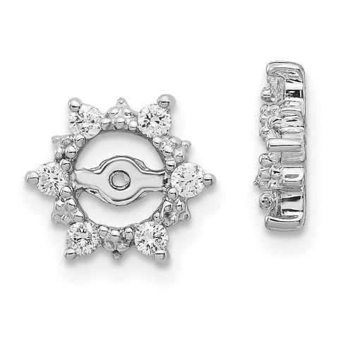 Lex & Lu 14k White Gold AA Diamond Earring Jackets LAL862-Lex & Lu