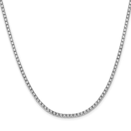 """Lex & Lu 14k White Gold Diamond 17.5"""" Necklace LAL14759-Lex & Lu"""