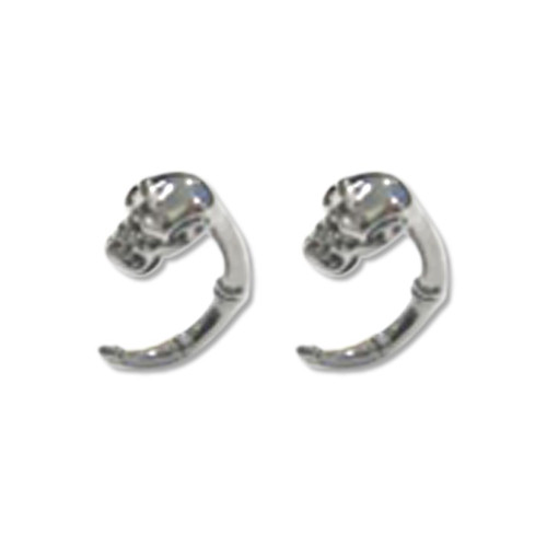 Lex and Lu Pair of Cast Steel Expander Plug Talon 8 Thru 2G Earrings-110