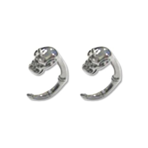 Lex & Lu Pair of Cast Steel Expander Plug Talon 8 Thru 2G Earrings-110-Lex & Lu