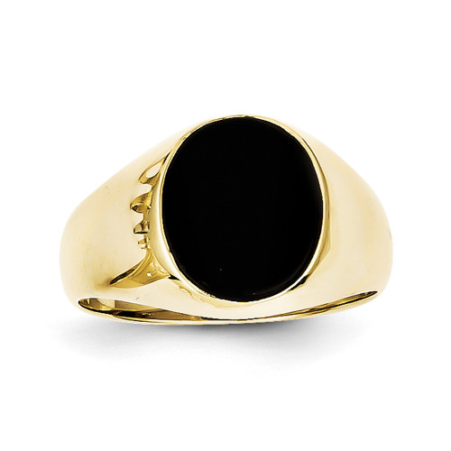 10k Onyx Men's Ring 10X21 Size 10-Lex and Lu