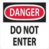 Danger Do Not Enter   Rigid Plastic, 10x14