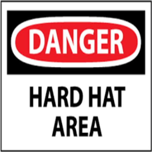 Danger Hard Hat Area | Rigid Plastic, 10x14