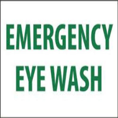 Emergency Eye Wash   Rigid Plastic, 10x14