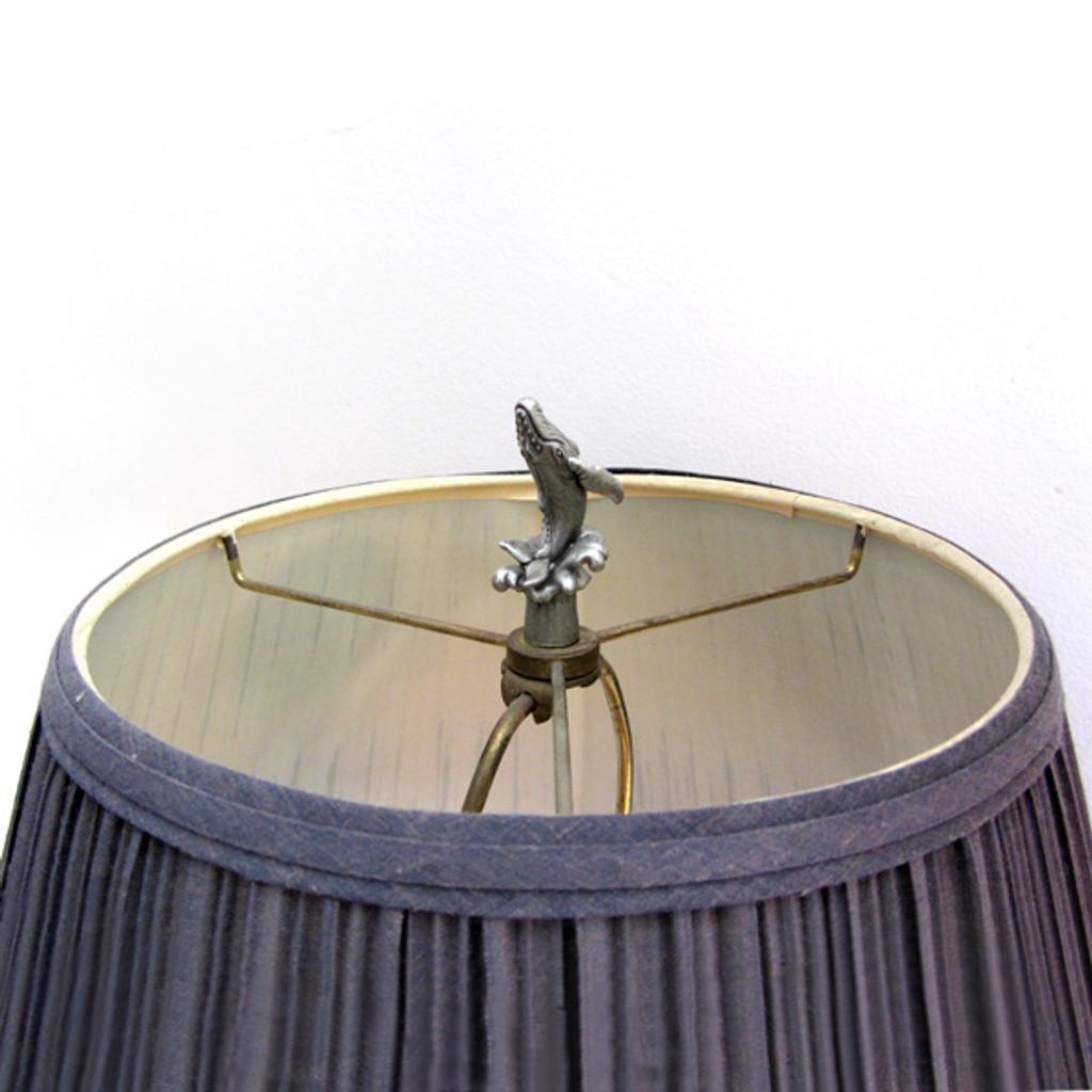 humpback whale lamp finial