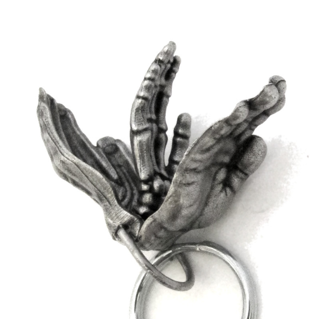 anatomical human hand keychain