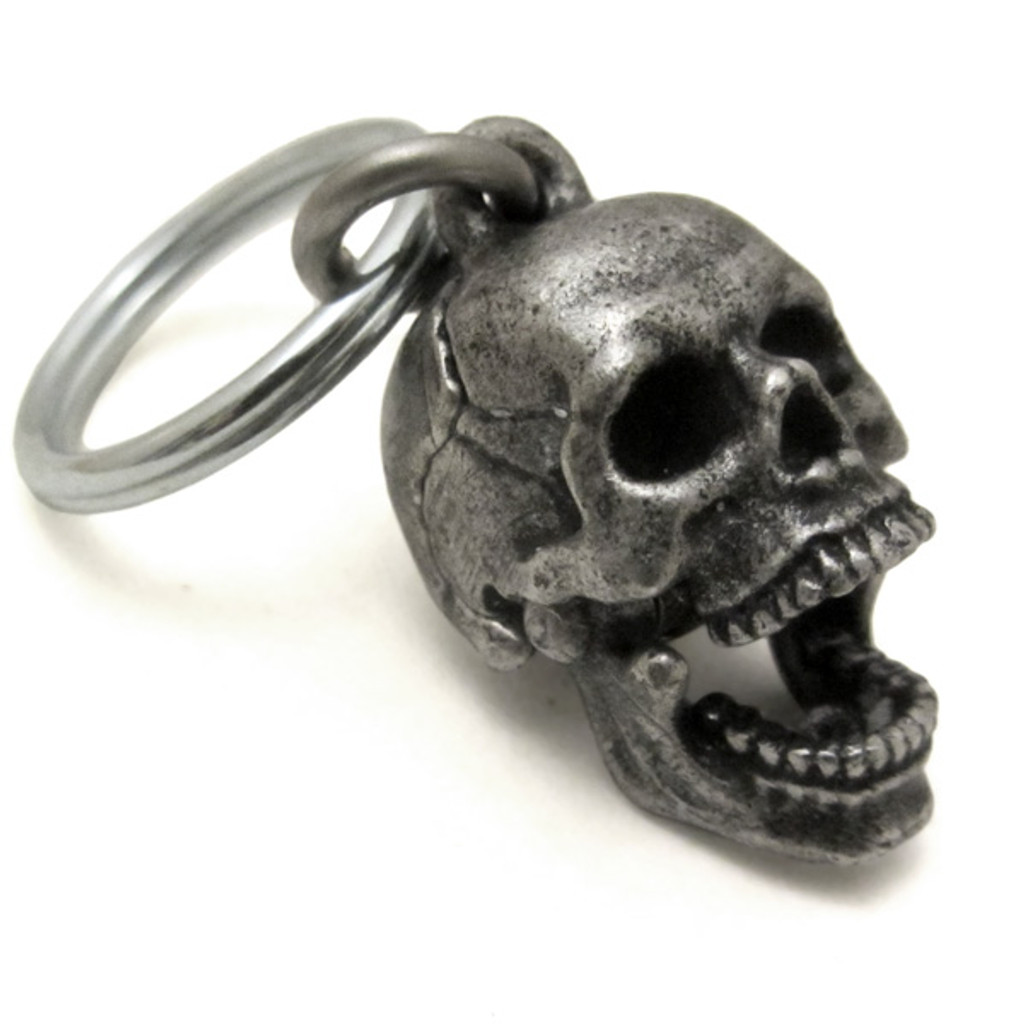 Human Skull Locket with mandible open