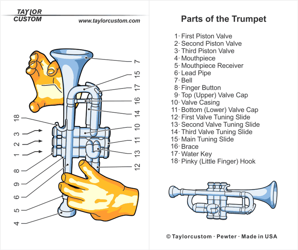 trumpet necklace packaging