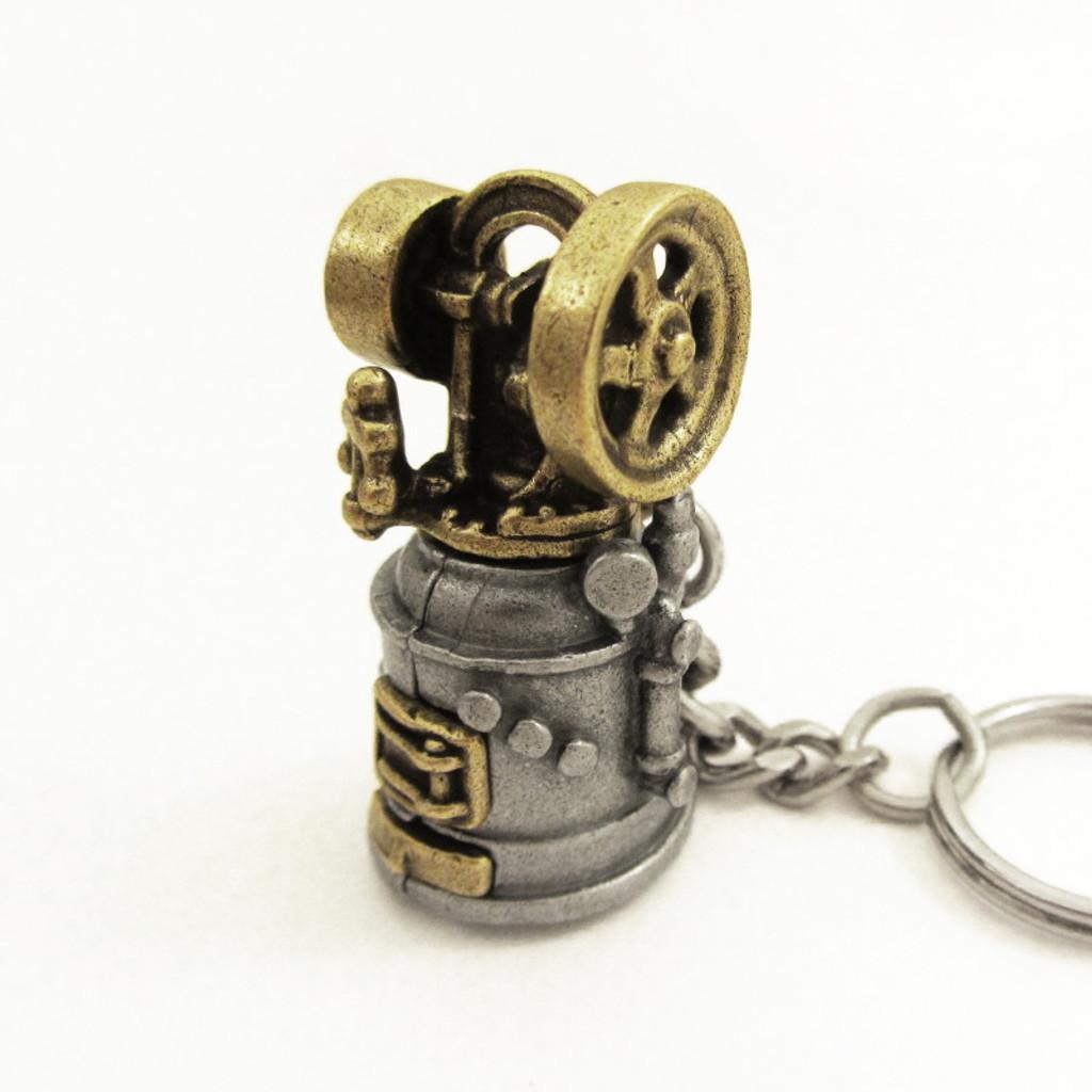baxter steam engine keychain