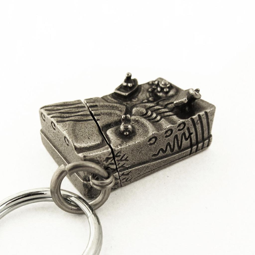 earthquake keychain