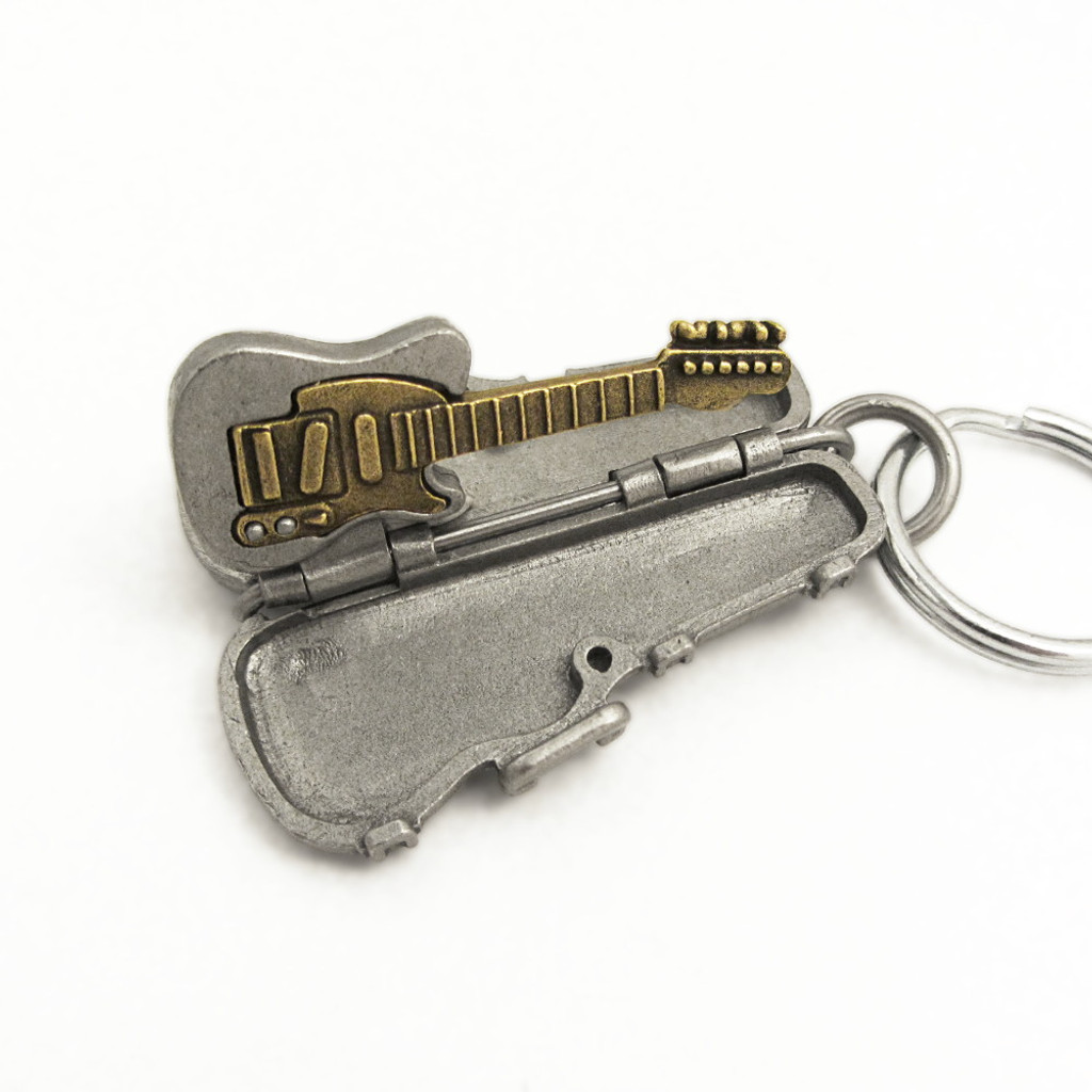 Tele style electric guitar keychain