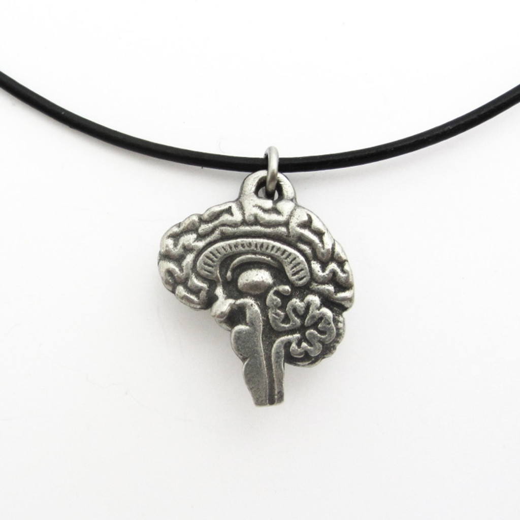 human brain pendant necklace