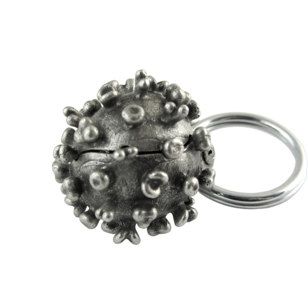 hsv virus keychain in closed position
