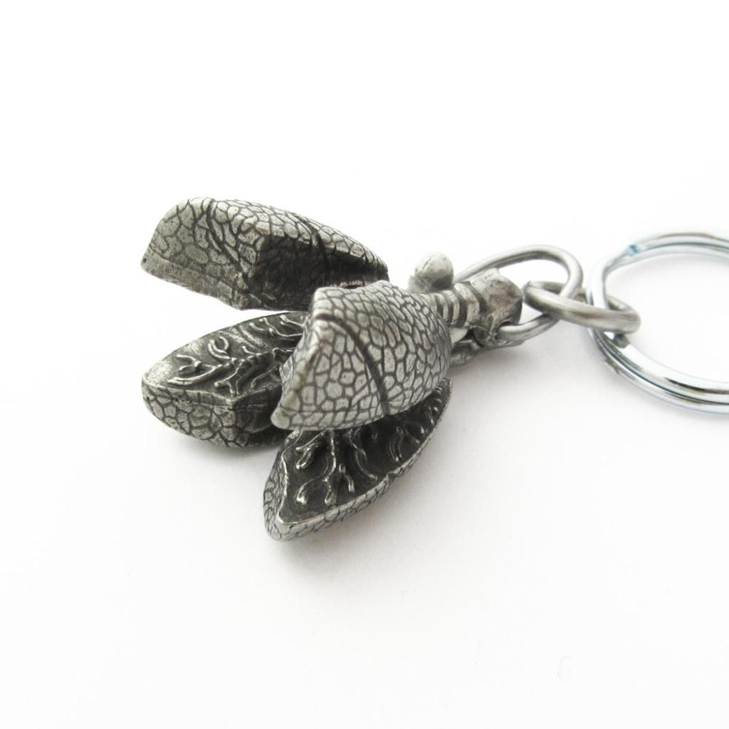 Human Lungs Locket Keychain