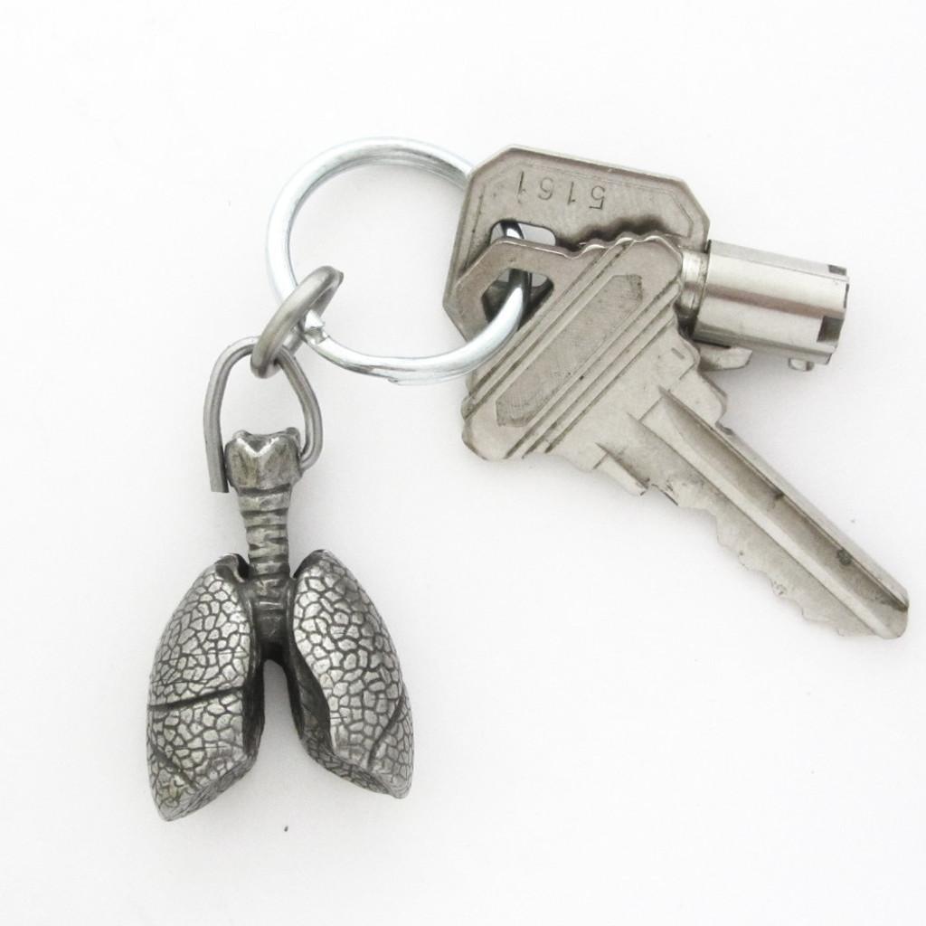 Human Lungs Keychain