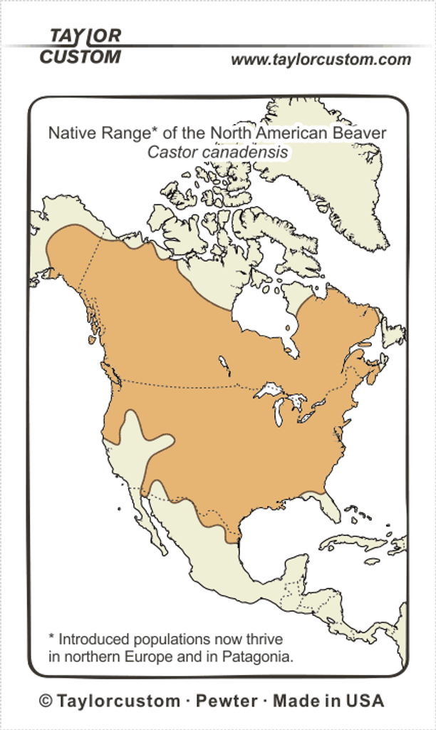 Castor canadinsis range diagram - Keychain Packaging