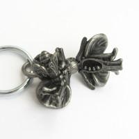 flower anatomy keychain