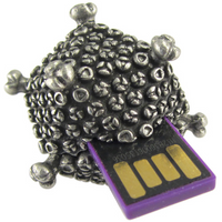 virus keychain usb unit