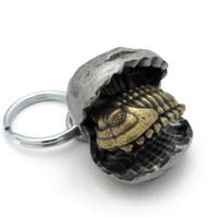 trilobite nodule keychain opened