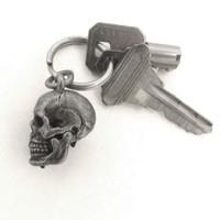 Human Skull Locket with keys