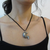 Human Stomach Locket Necklace