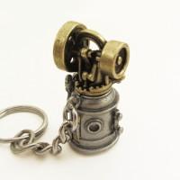 steam engine keychain