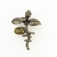 olive tree seedling lapel pin
