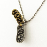 mitochondrion necklace in fully open position