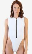 Zip Up High Cut One Piece Swimsuit -  Tall/Long Torso