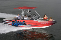 Aerial Assault wakeboard tower is a stylish OEM styled upgrade for almost any boat